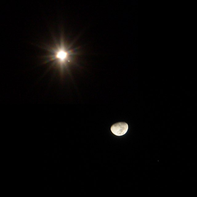 Moon and Jupiter Conjunction: Two Views