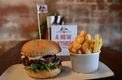 Coat of Arms Burger AUD14.50, chips AUD3.50 - Gril…