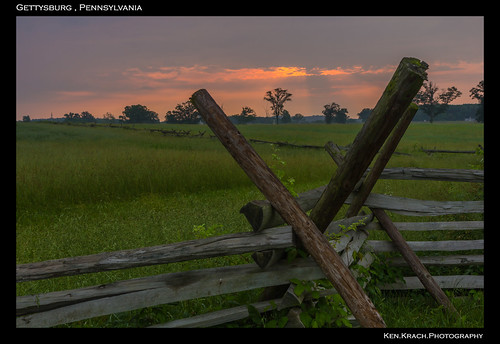 wood morning sunrise fence gettysburg civilwar battlefield