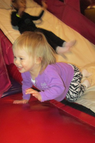 Lucy loved the bounce house