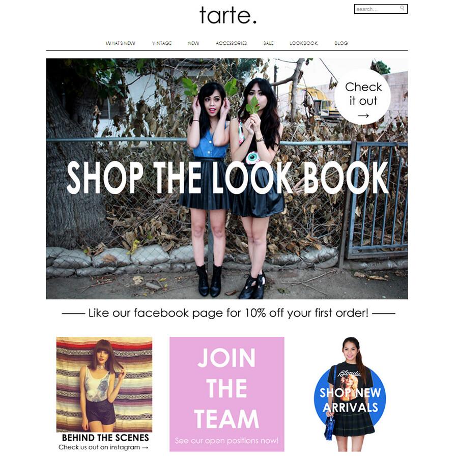 Tarte Vintage Shoptarte Relaunch