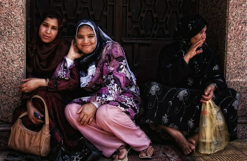Ladies Share A Smile In Luxor