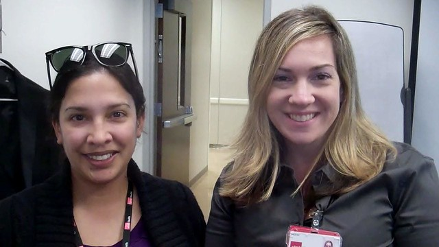 Anita Pohlemann—PSS 1, Ambulatory Program Resource Group, and Stephanie Lopez—Financial Analyst I, Clinics Administration and Support at the Specialty Care Center at Victory Lakes.