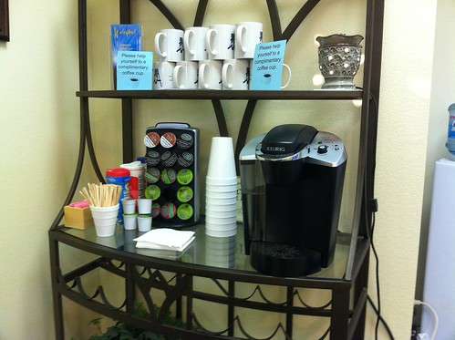 Coffee bar at My dentists office.