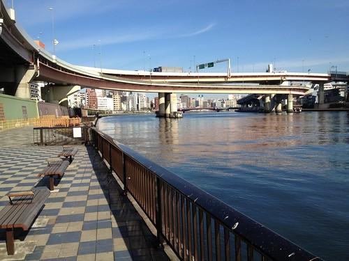 浜町公園から隅田川河畔を北へ歩く by haruhiko_iyota