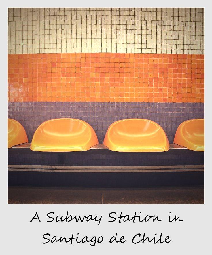 polaroid of the week chile santiago subway station