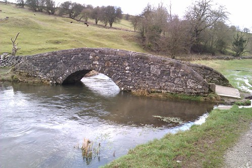 Packhorse bridge in Bradford Dale.