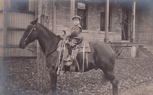 Portrait of a boy on a horse (1904-1918)