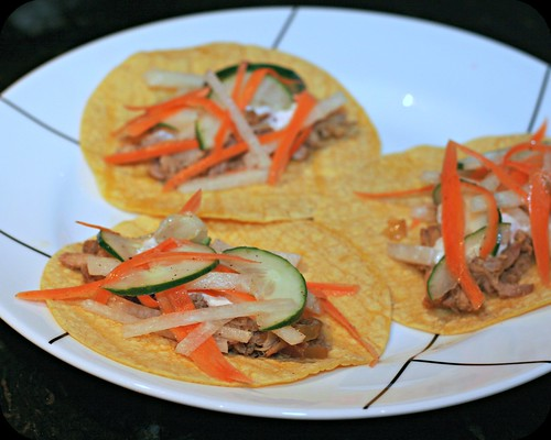Crockpot Cuban Pork Tacos