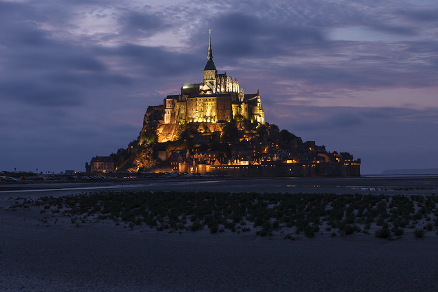 Mont Saint-Michel magical dusk
