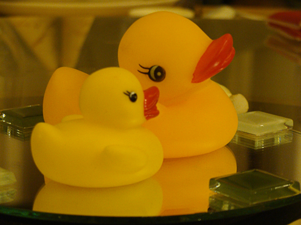 Rubber Duckies at Golden Bay Restaurant