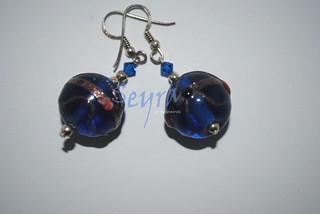 pendientes bola de cristal tipo murano 8450515608_ac109f5083_n