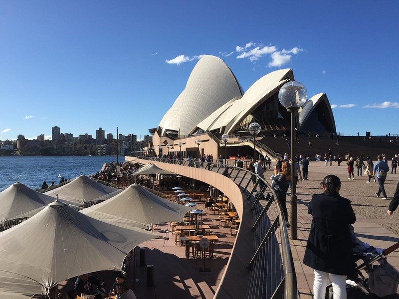 Sydney opera house with blue skys