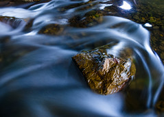 Long exposure of a river flowing