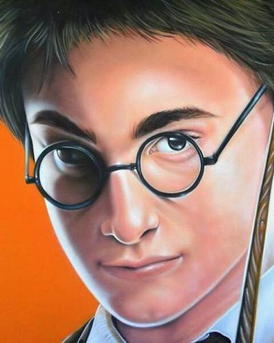 Harry Potter - Curitiba - PR Aerografia placa de mdf 135x185 - 2010 #vespa #pdf #pdfcrew #abp #graffiti #sprayart #spraycan #workout #fotografia #aerografia #charliechaplin #fotograffiti #harrypotterfan #photografy #streetart #artederua #realismo #realism