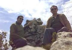 José Miguel Mateu Folch y Juan Antonio Micó Navarro al Molló dels Cinc Termes