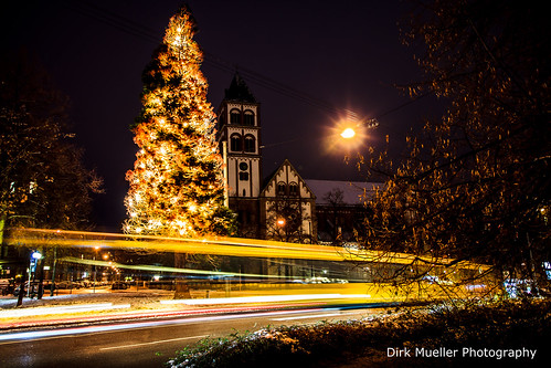 Christmas Tree of Stuttgart-West by Dirk Mueller Photography