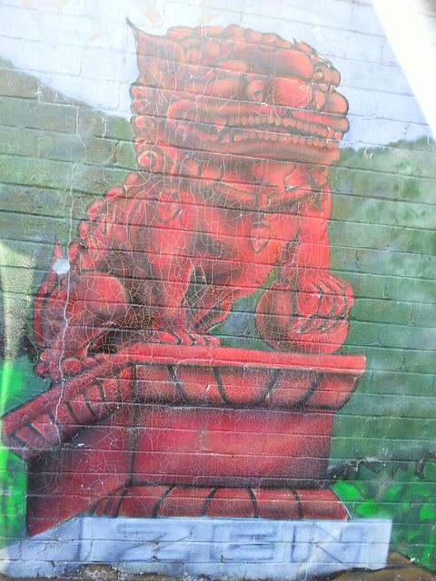 Zen Guardian Statue Newtown Sydney street art