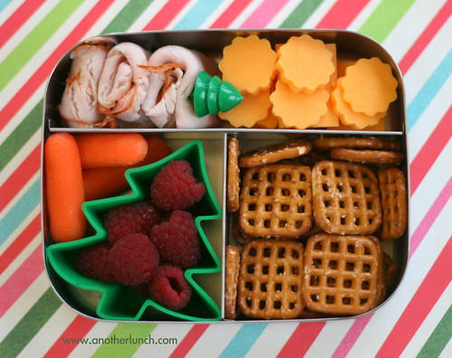 Holiday Tree Lunchbots Trio Bento Lunch