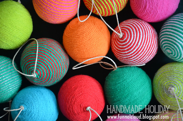 handmade holiday | yarn ball ornaments