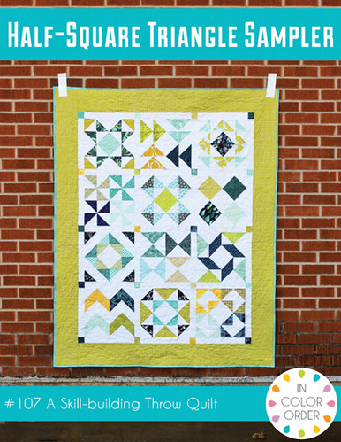 Half-Square Triangle Sampler Pattern by Jeni Baker