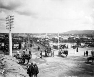 Image of Queen Victoria near Brisbane. brisbane queensland queenstreet 1880 victoriabridge queenslandstatearchives