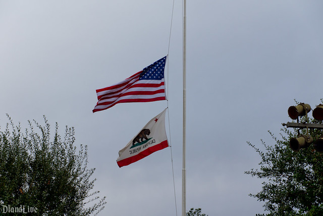 Disneyland Flag Half Staff