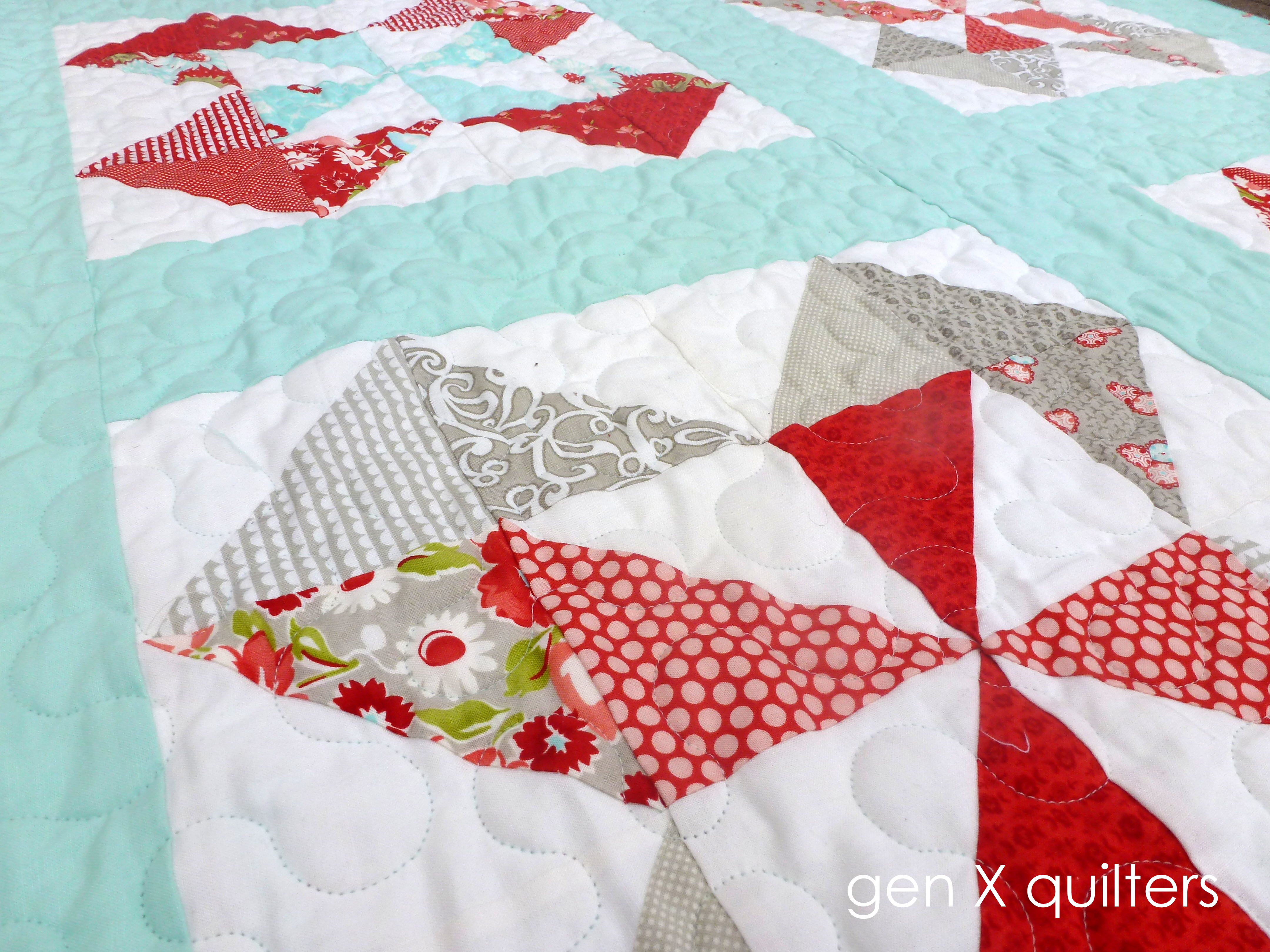 Ruby quilt close up