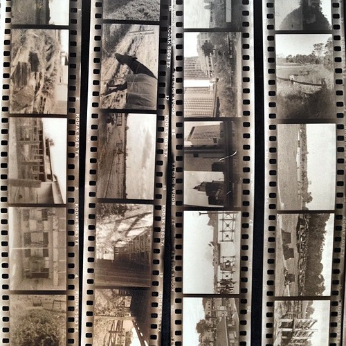 Found some of my old film proof sheets from my Uni photography class. Love old school photo developing!