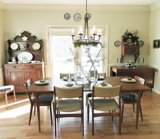 mid century danish modern dining room