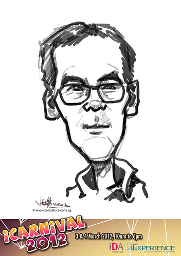 digital live caricature for iCarnival 2012  (IDA) - Day 1 - 24