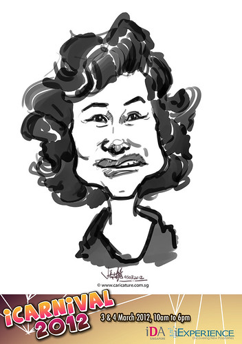 digital live caricature for iCarnival 2012  (IDA) - Day 1 - 66