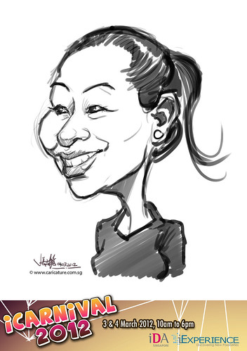 digital live caricature for iCarnival 2012  (IDA) - Day 2 - 46