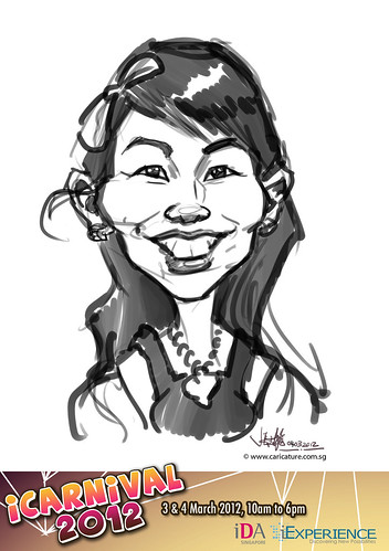 digital live caricature for iCarnival 2012  (IDA) - Day 2 - 48