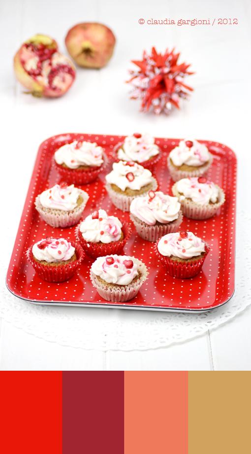 Mini Cupcake alla melagrana