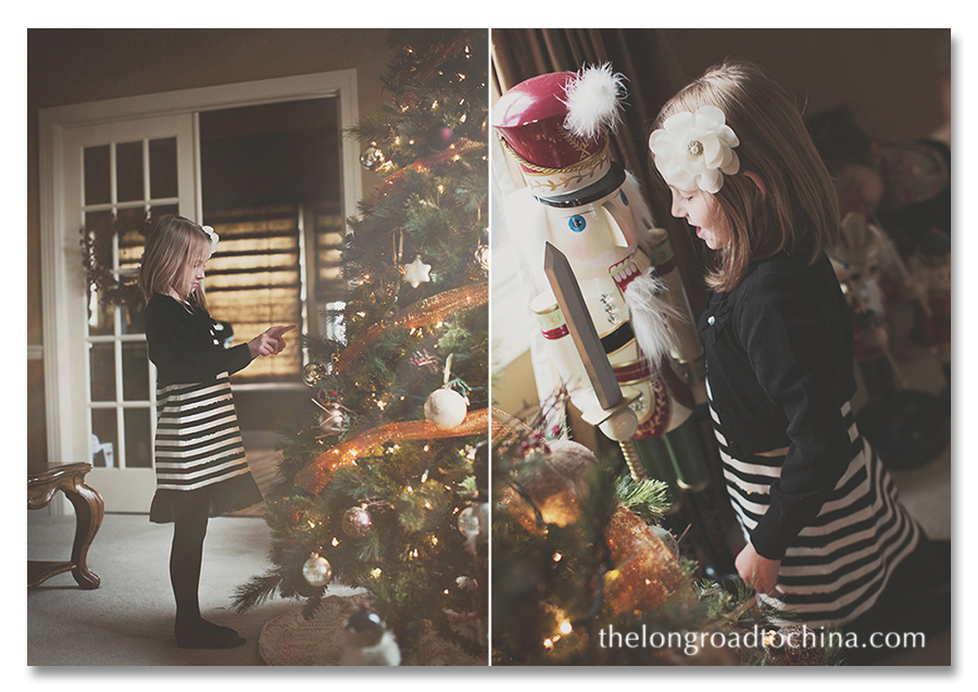 Sarah and the Xmas Tree Collage