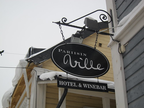 A hotel sign in Porvoo