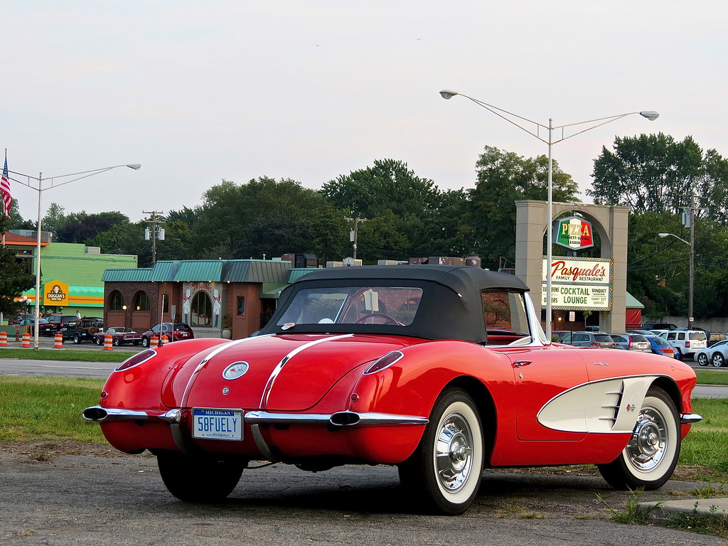 spotted 1958 chevrolet corvette c1 woodward ave mi mind over motor. Black Bedroom Furniture Sets. Home Design Ideas