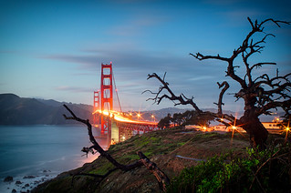 23 December 2012 Golden Gate Bridge at twilight