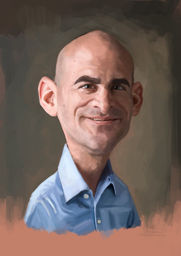 digital caricature of SRonen Samuel for Hewlett Packard