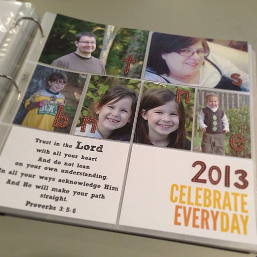 I'm ready to start my 2013 #projectlife album! Bottom right card is from the Seafoam kit. @elisejoy