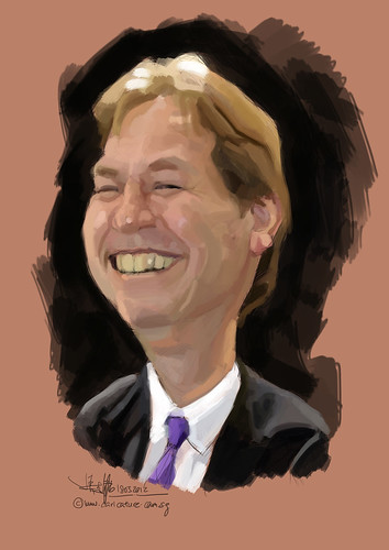 digital caricature of Arild Per for Hewlett Packard (revised) - 2