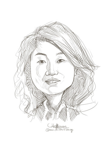 digital caricature of Winnie Hung for Hewlett Packard (revised) - 1