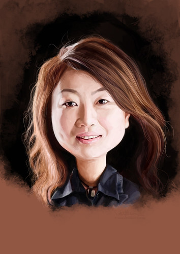 digital caricature of Winnie Hung for Hewlett Packard (revised)