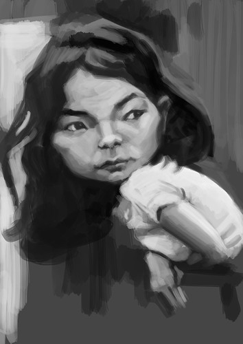 digital caricature of Bjork - 2