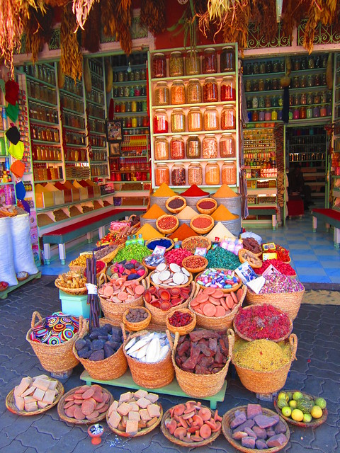 November - souks of Marrakech, Morocco