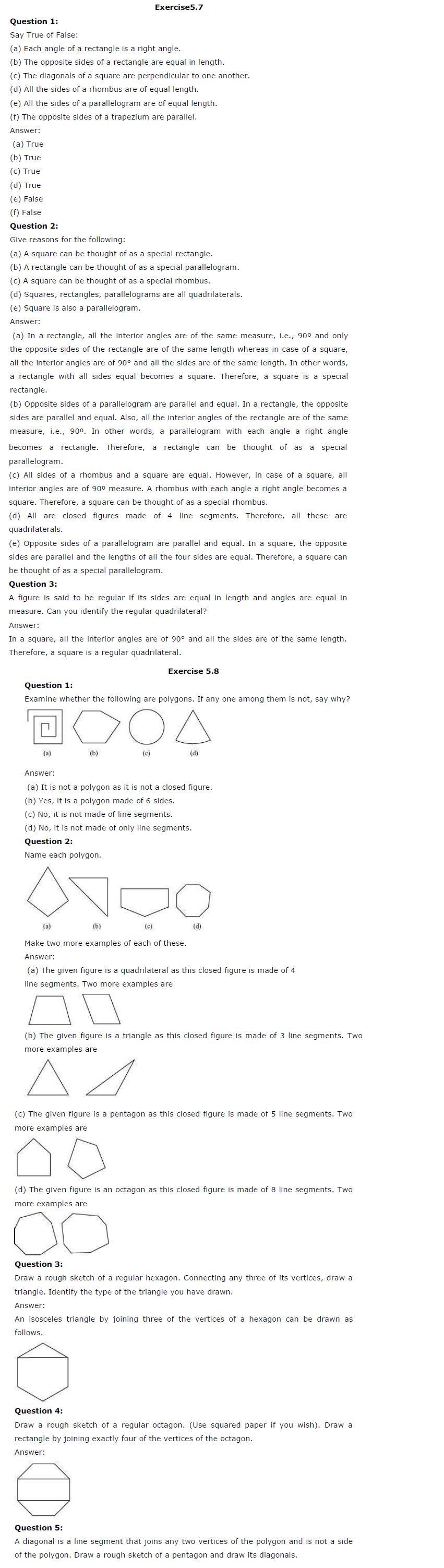 NCERT Solutions For Class 6 Maths Chapter 5 Understanding