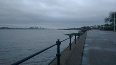 Liverpool from Vale Park Promenade Gates: Copyright 28th December, 2012 Kevin & Jane Moor
