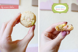 New Year's Tiredness? Colorful Vanilla Chocolate Chip Cookies can help!