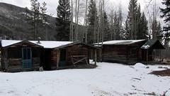 hut, winter, snow, shack, cottage, log cabin, sugar house, home,